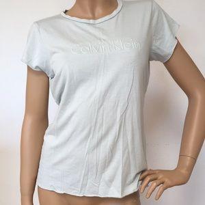 Calvin Klein Mint Green Cotton Tee T Shirt M
